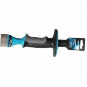 Зубило-конопатка GROSS, 215 х 44 мм, трехкомпонентная эргономичная рукоятка, защитный протектор, антикоррозионное покрытие