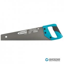 """Ножовка по дереву GROSS """"PIRANHA"""", 400 мм, 11-12 TPI, зуб-3D, калёный зуб, тефлоновое покрытие полотна, двухкомпонентная рукоятка"""
