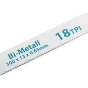 Полотна для ножовки по металлу GROSS, 300 мм, 18 TPI, BIM, 2 шт