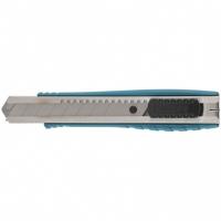 Нож GROSS 160 мм, металлический корпус, выдвижное сегментное лезвие 18 мм (SK-5), металлическая направляющая, клипса для ремня
