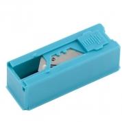 Лезвия GROSS, 19 мм, трапециевидные крючкообразные, пластиковый пенал, 12 шт