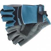 Перчатки комбинированные облегченные GROSS, открытые пальцы, Aktiv, XL
