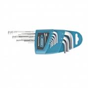 Набор ключей имбусовых GROSS HEX, 1,5-10 мм, S2, 9 шт, удлиненные с шаром, сатинированные