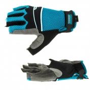 Перчатки комбинированные облегченные GROSS, открытые пальцы, Aktiv, М