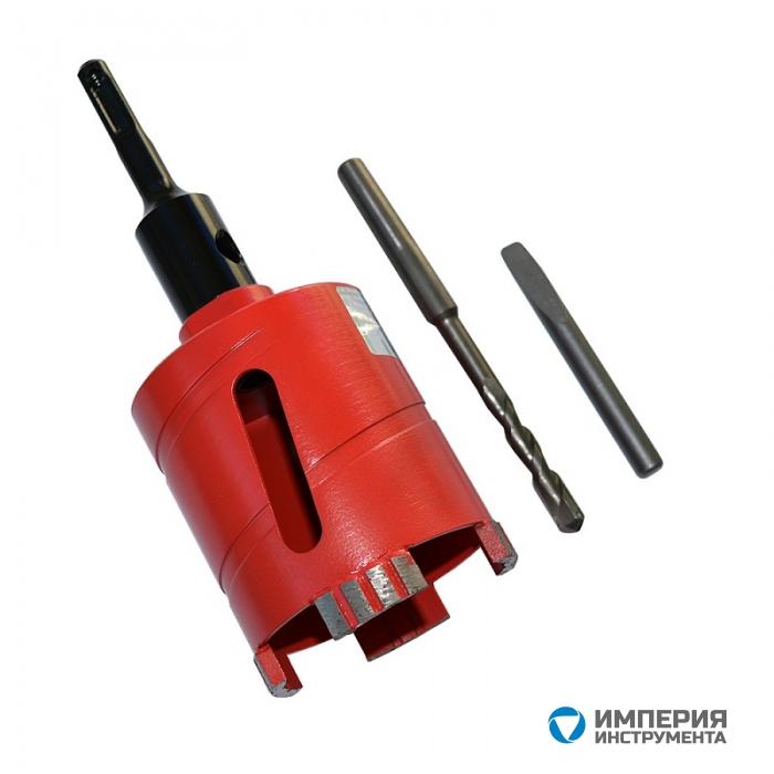 Сверло алмазное сегментное MasterLine 68хМ16 с переходником М16/HEX для ручного сверления
