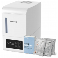Паровой увлажнитель воздуха Boneco S250 + Очиститель накипи Calc Off Boneco (3 штуки) в подарок!