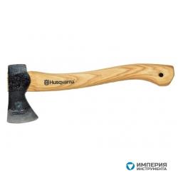 Топор плотницкий малый Husqvarna с кожаным чехлом на лезвие