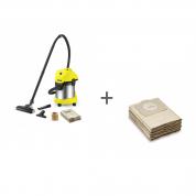 Пылесос хозяйственный Karcher WD 3 Premium Home + Фильтр-мешки (5 шт) в подарок!