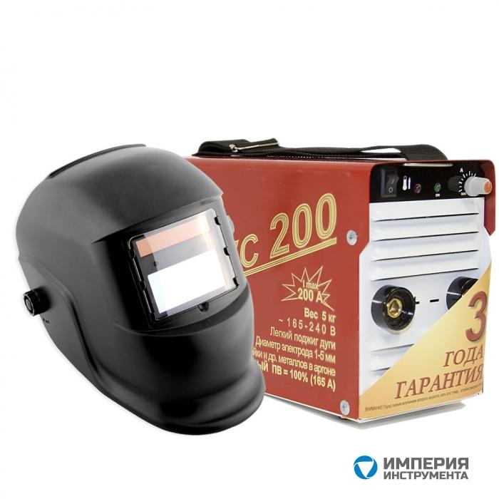 Инвертор сварочный ТОРУС-200 КЛАССИК + маска Хамелеон