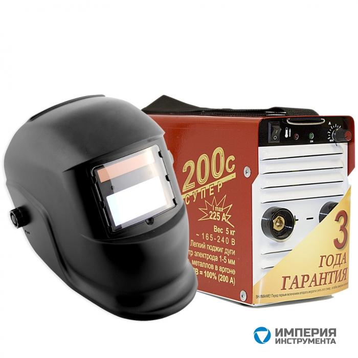Инвертор сварочный ТОРУС-200с СУПЕР + маска Хамелеон