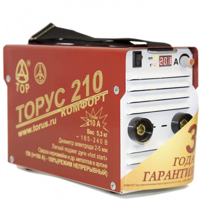 Инвертор сварочный ТОРУС-210 КОМФОРТ