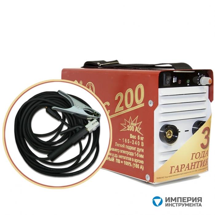 Инвертор сварочный ТОРУС-200 КЛАССИК + комплект сварочных проводов