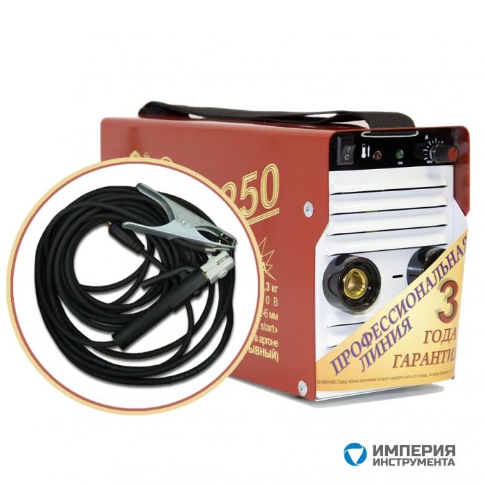 Инвертор сварочный ТОРУС-250 ЭКСТРА (НАКС) + комплект сварочных проводов