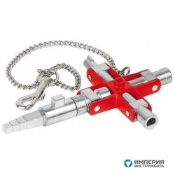 Универсальный ключ для строительства для распространенных шкафов и систем запирания KNIPEX KN-001106