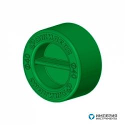 Заглушка для трубы Джилекс ПНД 40 мм (зеленая)