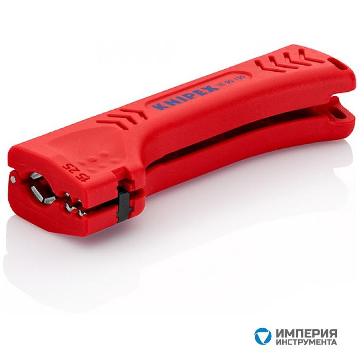 Универсальный инструмент для снятия оболочки с кабеля домовой и промышленной сети KNIPEX KN-1690130SB