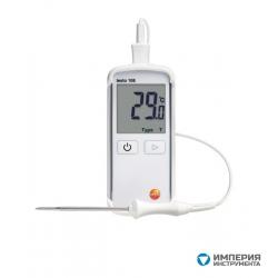Водонепроницаемый термометр с возможностью подключения зондов т/п Тип Т и К Testo 108
