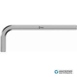 Ключ Г-образный 6 мм, метрический, хромированный WERA 950 021045