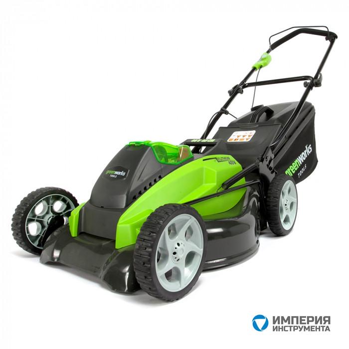 Газонокосилка аккумуляторная G-MAX 40V GreenWorks G40LM45 UA