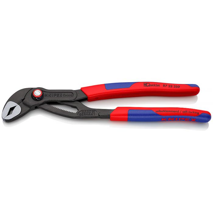 Высокотехнологичные сантехнические клещи Cobra QuickSet KNIPEX KN-8722250