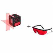 Нивелир лазерный ADA CUBE BASIC EDITION + очки лазерные ADA Laser Glasses  в подарок!