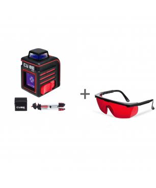 Уровень лазерный ADA CUBE 360 PROFESSIONAL EDITION + очки лазерныеADA Laser Glasses в подарок!