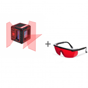 Нивелир лазерный ADA CUBE 3D BASIC EDITION + очки лазерные ADA Laser Glasses  в подарок!