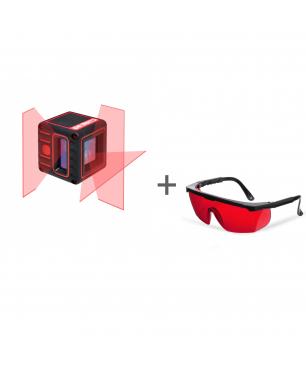 Уровень лазерный ADA CUBE 3D BASIC EDITION + очки лазерныеADA Laser Glasses в подарок!