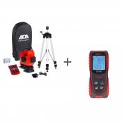 Нивелир лазерный ADA TopLiner 3x360 set и Рулетка лазерная ADA COSMO 50