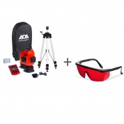 Нивелир лазерный ADA TopLiner 3x360 set + очки лазерныеADA Laser Glasses в подарок!