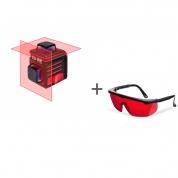 Нивелир лазерный ADA CUBE 2-360 BASIC EDITION + очки лазерныеADA Laser Glassesв подарок!