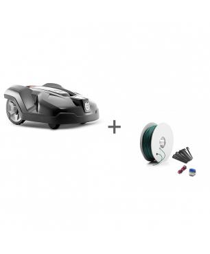 Газонокосилка-робот Husqvarna Automower 420 Connect Home + Комплект для установки Большой в подарок!