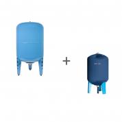 Гидроаккумулятор Джилекс 100В (вертикальный, металлический фланец) + Чехол TermoZont GB 100 для гидробака