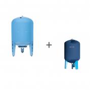 Гидроаккумулятор Джилекс 200В (вертикальный, металлический фланец), + Чехол TermoZont GB 200 для гидробака
