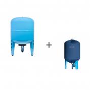 Гидроаккумулятор Джилекс 80ВП к (вертикальный, комбинированный фланец) + Чехол TermoZont GB 80 для гидробака