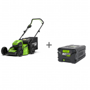 Газонокосилка аккумуляторная GD-60 60V GreenWorks GD60LM46HPK4 + Аккумулятор GD-60 60V G60B2 в подарок!