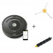 Робот-пылесос iRobot Roomba 676 + Боковая щетка + Щетка резиновая