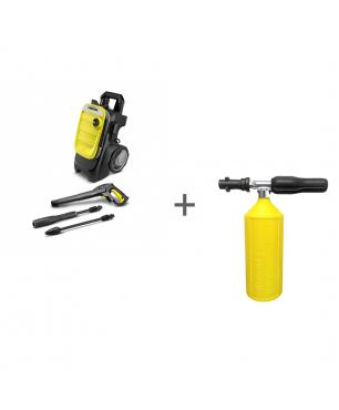 Минимойка высокого давления Karcher K 7 Compact + Насадка для пенной чистки K-Parts 1 л в подарок!