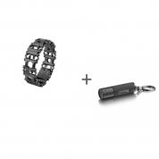 Браслет Leatherman Tread Black LT (узкий), Фонарь-брелок Leatherman LED Lenser K2 в подарок!