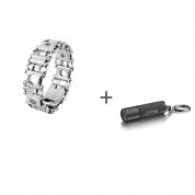 Браслет Leatherman Tread Stainless Steel LT (узкий), Фонарь-брелок Leatherman LED Lenser K2 в подарок!