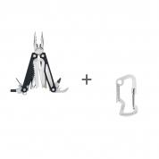 Мультитул Leatherman Charge ALX, 18 функций, кожаный чехол, Карабин Leatherman в подарок!