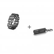 Браслет Leatherman Tread Black, Фонарь-брелок Leatherman LED Lenser K2 в подарок!