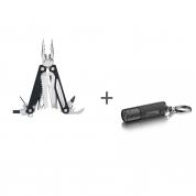 Мультитул Leatherman Charge ALX, 18 функций, кожаный чехол, Фонарь-брелок Leatherman LED Lenser K2 в подарок!