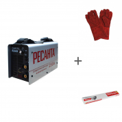 Сварочный инверторный аппарат Ресанта САИ-250 + сварочные краги и электроды в подарок!