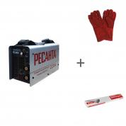 Сварочный инверторный аппарат Ресанта САИ-220 + сварочные краги и электроды в подарок!