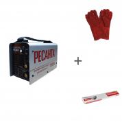 Сварочный инверторный аппарат Ресанта САИ-190 + сварочные краги и электроды в подарок!