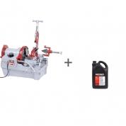Резьбонарезной станок Rex N100A CE with Foot Switch + Масло минеральное RIDGID 5 л (2 шт) в подарок!