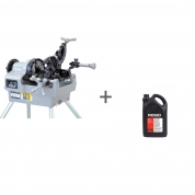 Резьбонарезной станок Rex NR50AV CE with Foot Switch + Масло минеральное RIDGID 5 л (2 шт) в подарок!