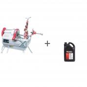 Станок для нарезания резьбы Rex NP80AV CE with Foot Switch + Масло минеральное RIDGID 5 л (2 шт) в подарок!