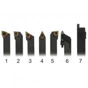 METALMASTER Набор резцов 20 мм со сменными твердосплавными пластинами 7 штук в деревянном ящичке.